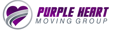 The official logo of Purple Heart moving group.