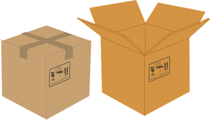 Cardboard boxes for safe move