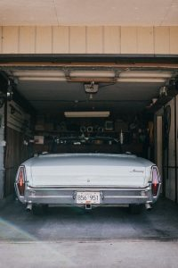 You will not find a vintage car – such as this blue '62 Corvette – inside when buying storage units, but any vintage parts carry a hefty price