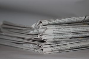 A stack of newspapper