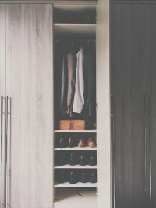 Shoes in a wardrobe