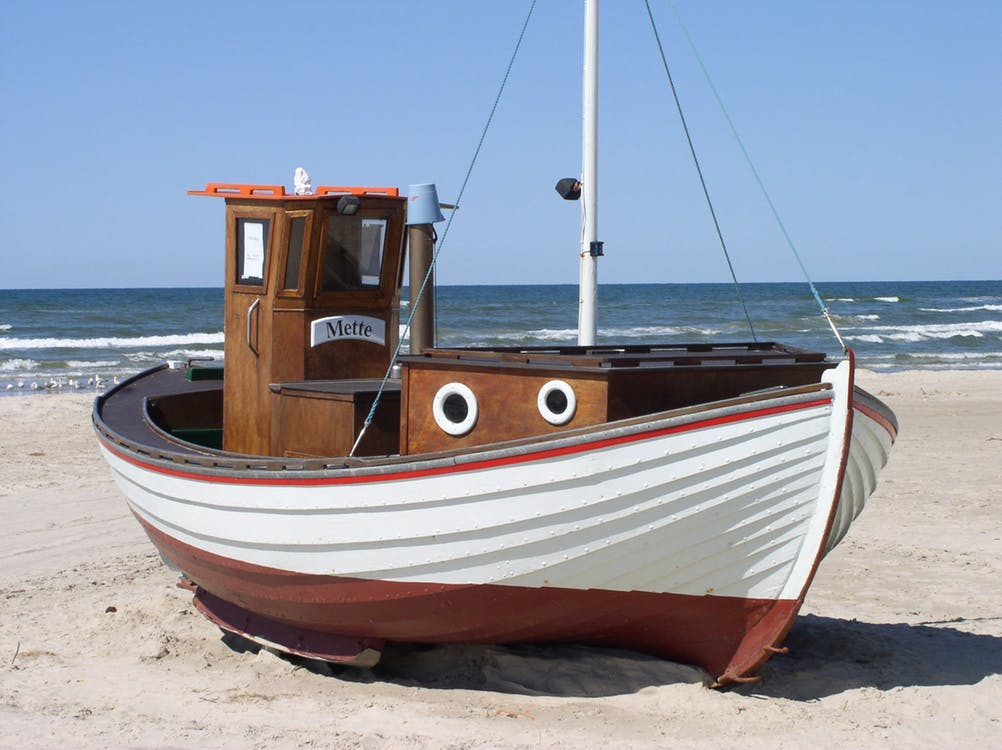Store your boat on the sand.