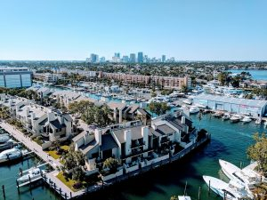 An aerial view of a neighborhood in Fort Lauderdale.