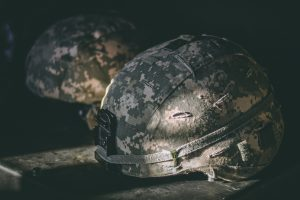 Image of a military helmet