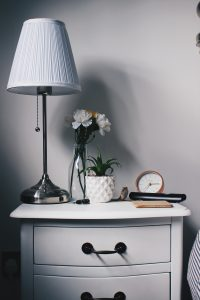 Image of a small night table with drawers