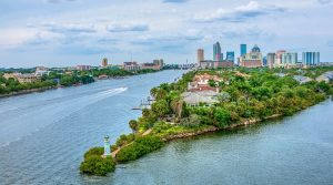 Tampa Bay is beautiful as well as growing steadily.