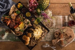 Platter with food