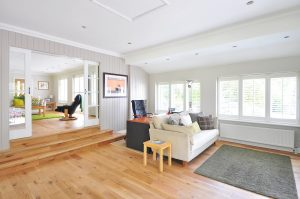 home interior with wooden floors