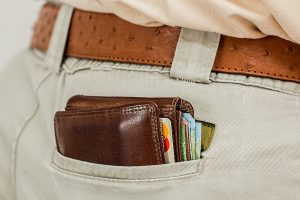 A wallet in the pocket