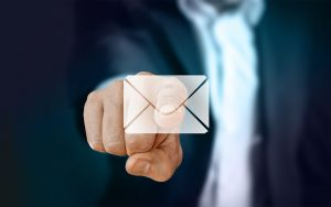 a man pointing at email