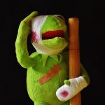 an injured Kermit
