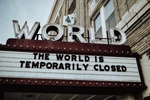 """The world is temporarily closed"" message."